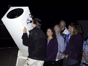 "A group viewing through the 15"" Dobsonian at Stockport Observatory"